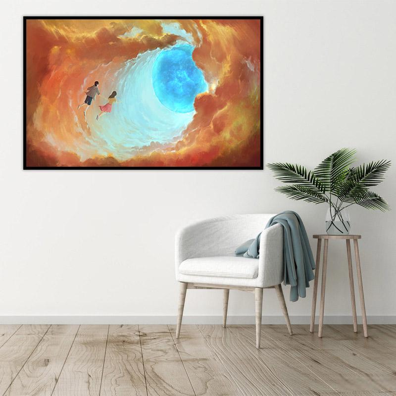 ocean boy abstract canvas art 1