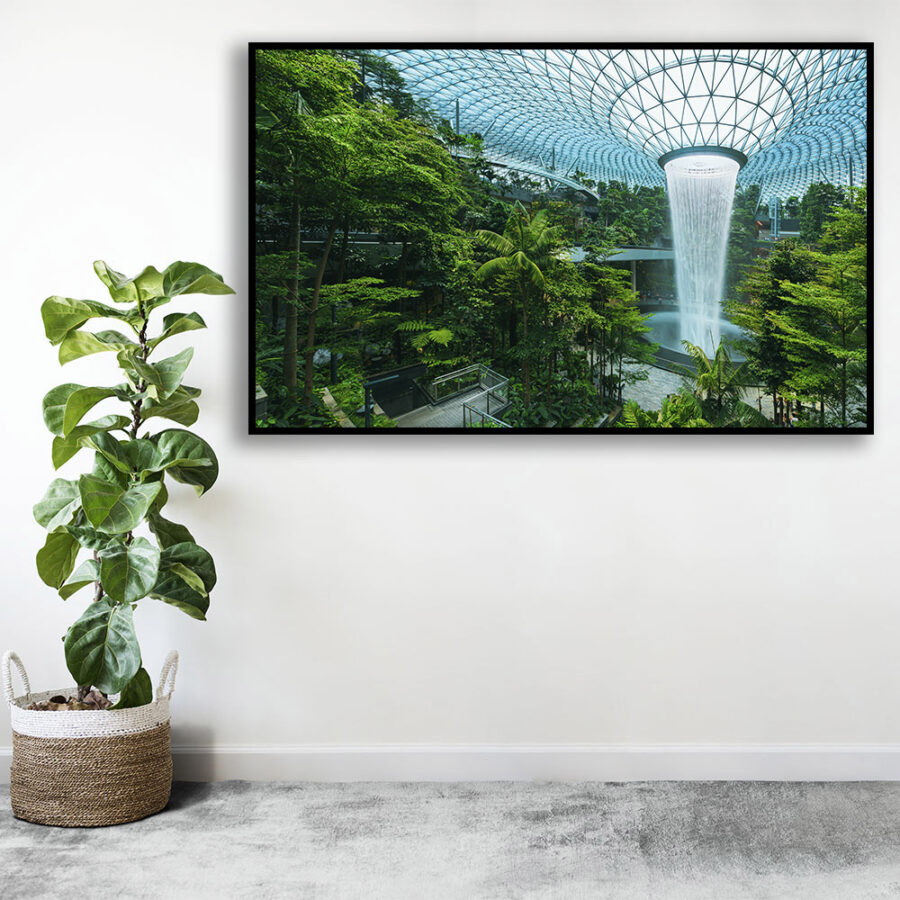 World's tallest indoor waterfall at Singapore 1