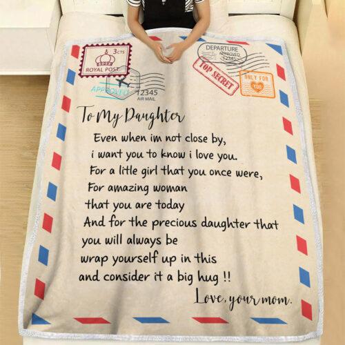 My daughter gift blanket, super comfortable fleece blanket 10
