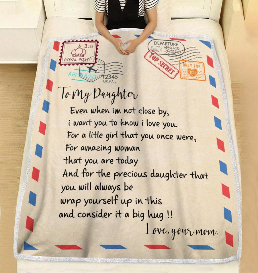 My daughter gift blanket, super comfortable fleece blanket 4