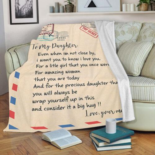 My daughter gift blanket, super comfortable fleece blanket 12