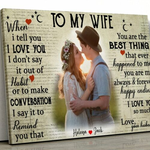couple wedding canvas, my wife, husband canvas picture 9