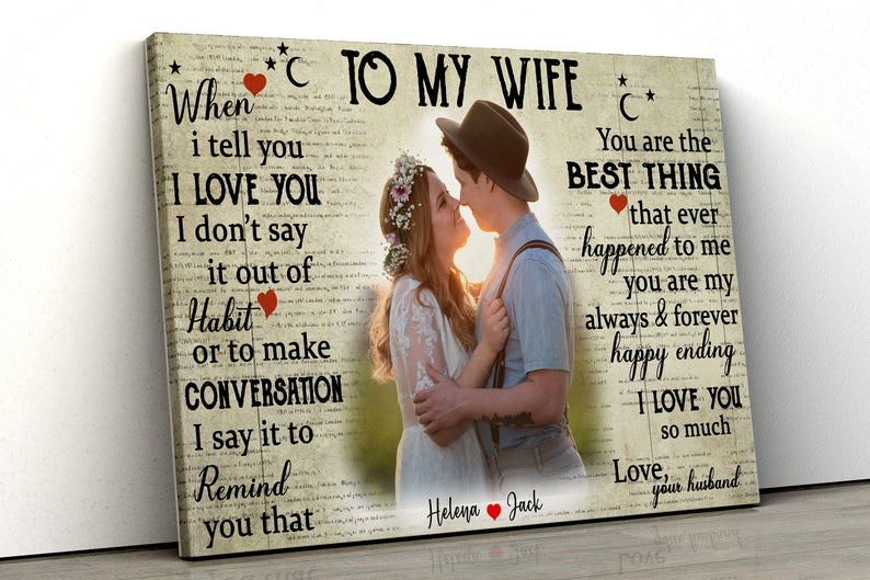 couple wedding canvas, my wife, husband canvas picture 5