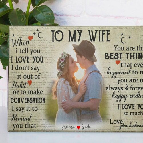 couple wedding canvas, my wife, husband canvas picture 8