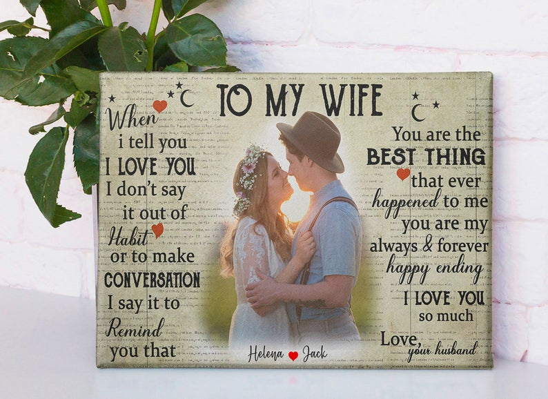 couple wedding canvas, my wife, husband canvas picture 4