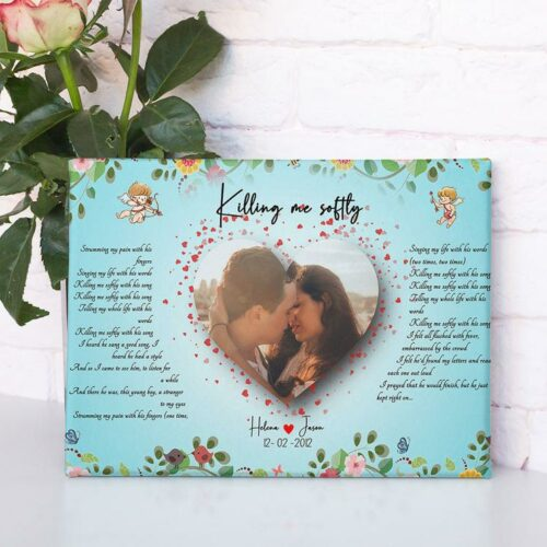 Customized personalized Beautiful lyrics song with your pictures and names 9