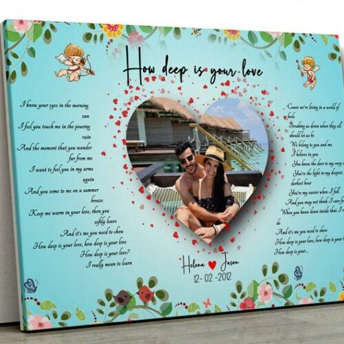 Customized personalized Beautiful lyrics song with your pictures and names 8