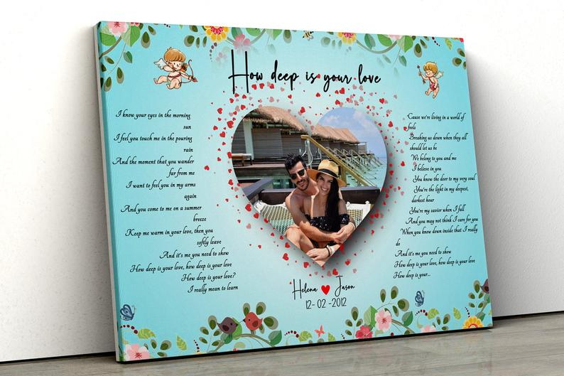 Customized personalized Beautiful lyrics song with your pictures and names 4