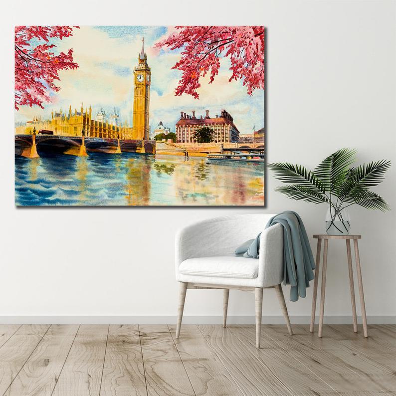Beautiful Big Ben London Canvas, Oil painting, Canvas Art 3