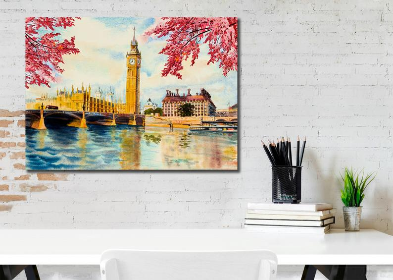 Beautiful Big Ben London Canvas, Oil painting, Canvas Art 2
