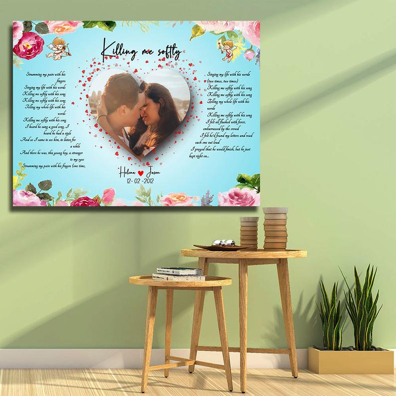 Customized personalized Beautiful lyrics song with your pictures and names 3