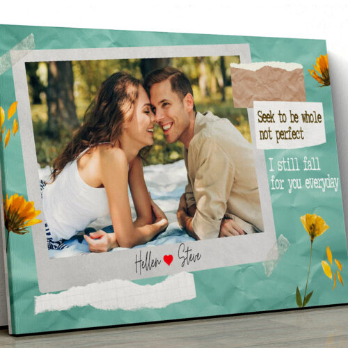 personalized couple canvas art, love gift 7