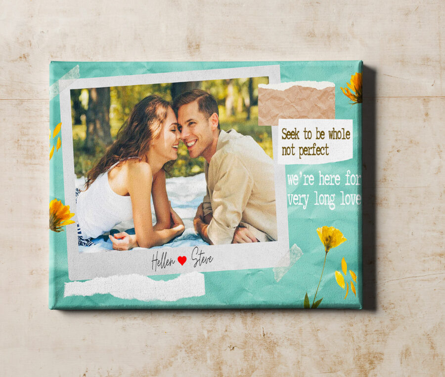 personalized couple canvas art, love gift 1