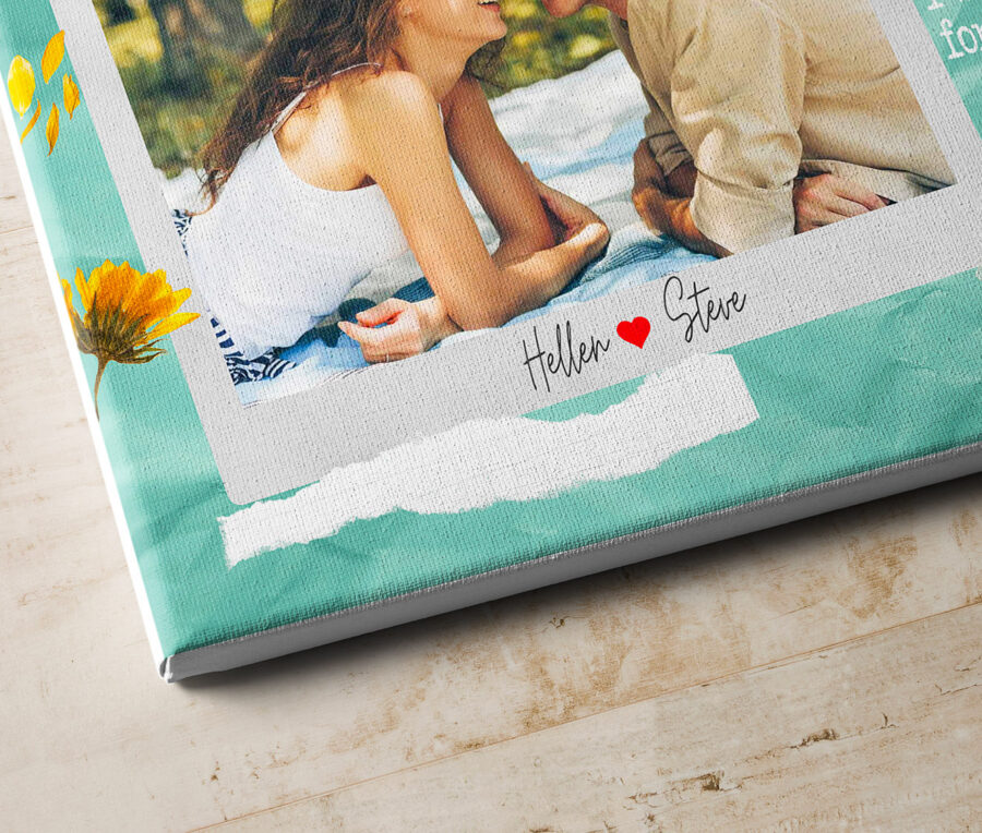 personalized couple canvas art, love gift 3