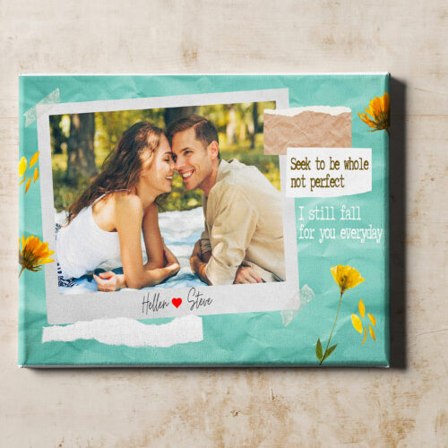 personalized couple canvas art, love gift 9