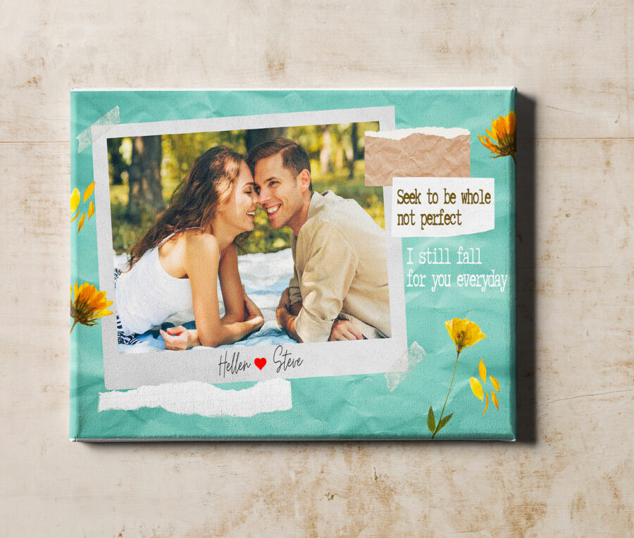 personalized couple canvas art, love gift 4