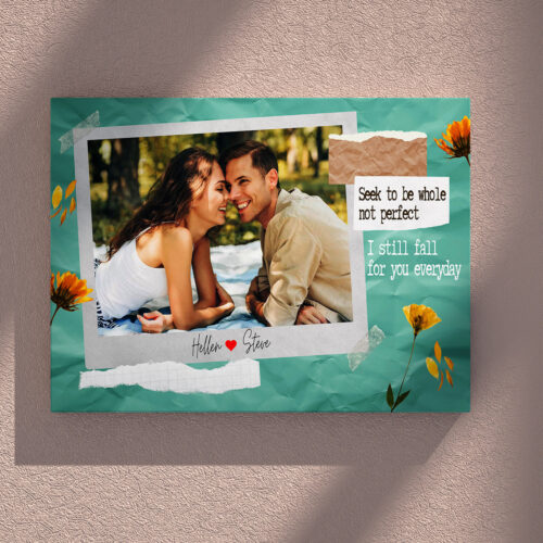 personalized couple canvas art, love gift 10