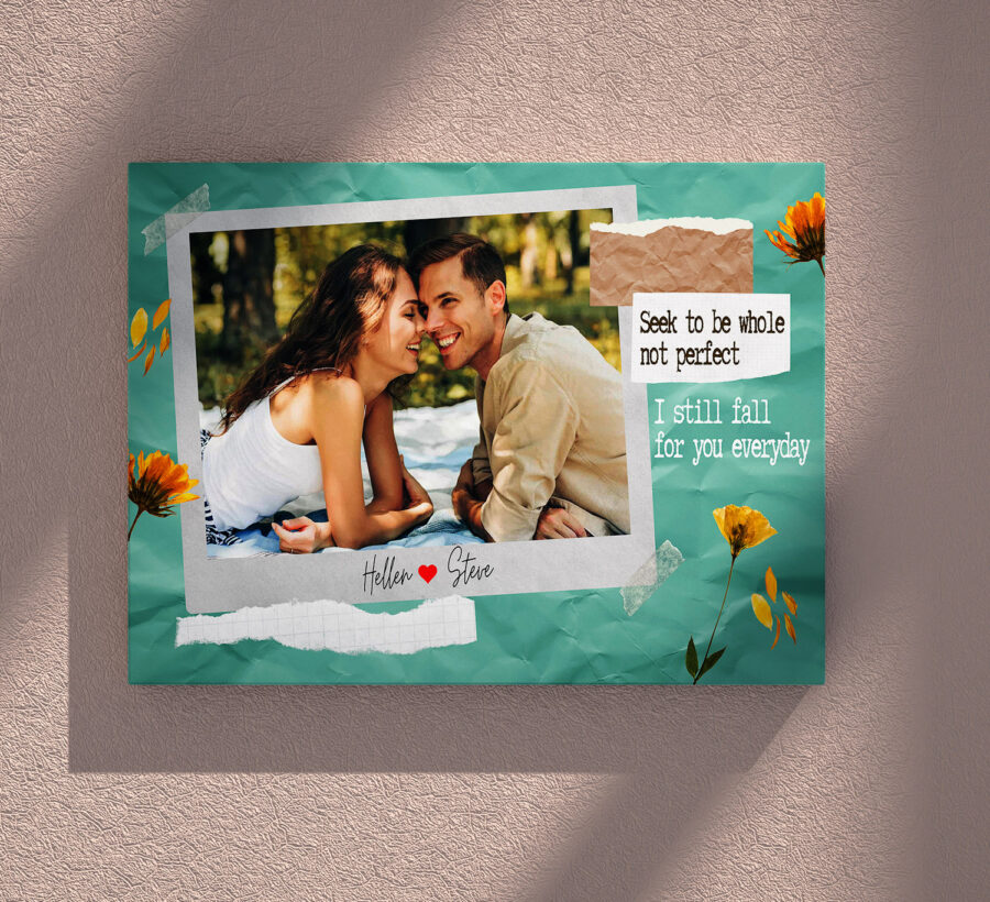personalized couple canvas art, love gift 5
