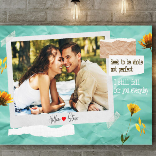personalized couple canvas art, love gift 11