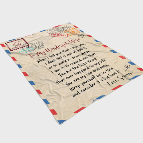 To my wonderful wife blanket, love message to my wife, personalized love gift, custom blanket 6